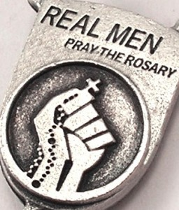 Ghirelli Custom Rosaries Real Men Pray The Rosary Centerpiece Logo